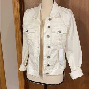 Kut from the Kloth Callie white denim jacket